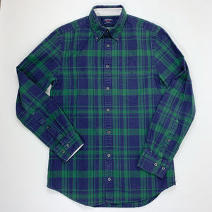 Charles Tyrwhitt Extra Slim Fit Plaid Shirt Green